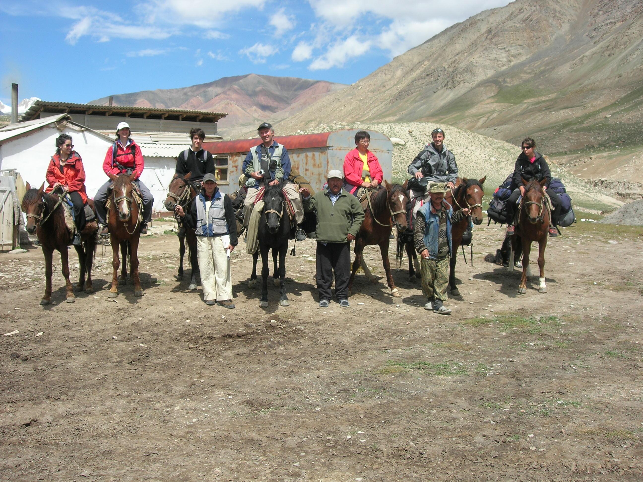 Acquisition de nos chevaux à l'arrivée dans la réserve